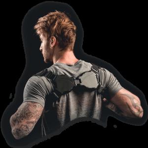 man wearing BladeFlex for better posture